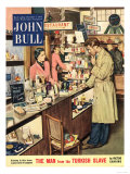 John Bull  Shopping Cosmetic Counter Make-Up Makeup Womens Magazine  UK  1953