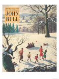 John Bull  Snow Ice Winter Seasons Magazine  UK  1950