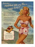 Sunbathing  Tanning  Bathing Costumes  USA  1940
