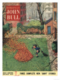 John Bull  Windy Autumn Dogs Magazine  UK  1953