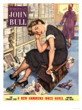 John Bull  Tired Fed-Up Stress Exhausted Sales Assistants Shoes Sales Shopping Magazine  UK  1954