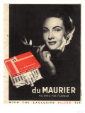 Du Maurier  Cigarettes Smoking Glamour  UK  1950