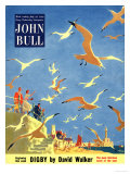 John Bull  Holiday Beaches Seagulls Magazine  UK  1953