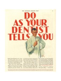 Dentists Lavoris Do As Your Dentist Tells You  USA  1920