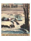 John Bull  Winter Snow Snow Ice Riding Horses Magazine  UK  1950