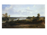 View on the Hudson River Near Tivoli  1841
