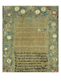 Needlework Sampler New England  1803
