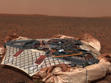 Rover's Landing Site  the Columbia Memorial Station  at Gusev Crater  Mars