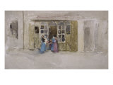 Women and Children at a Shop Door  c1888