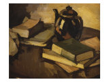 Still Life with a Teapot and Books on a Table  c1926