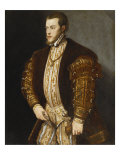 Portrait of King Philip II of Spain  in Gold-Embroidered Costume with Order of the Golden Fleece