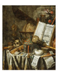 Vanitas Still Life with Musical Instruments  c1663