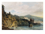 The Coast under Vietri  Salerno in the Distance  19th Century