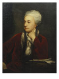 Portrait of William Cowper  Red Coat with a Fur Collar and a White Cap  18th Century