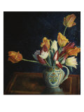 Tulips in a Staffordshire Jug  Catalogue No 210C