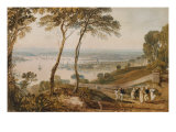 Plymouth Dock  from Near Mount Edgecumbe  19th Century