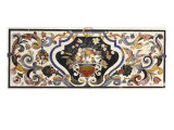 Florentine Pietra Dura Table Top Centred by a Bowl of Fruit and Flowers