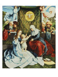 The Madonna and Child  with St Ann  Surrounded by Angels and Donors
