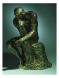 The Thinker  Le Penseur  Bronze with Black Patina  c1880-1882