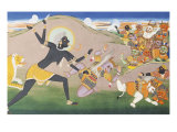 Kali Slaying Demons Illustration to the Markanddeya Purana Jaipur  c1800-1820