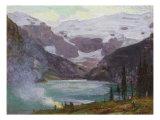 Camp by Lake Louise
