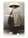 Japanese Samurai in Traditional Costume  1868