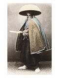 Japanese Samurai in Traditional Costume  1868