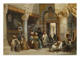Arab Figures in a Coffee House  1870