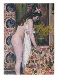 Nude Smelling the Flowers  Nu Sens Les Fleurs