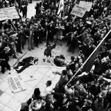 Angry Demonstrators around Dead after Police Opened Fire  National Liberation Front Demonstration