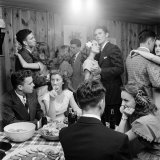 Teenagers Dancing and Socializing at a Party
