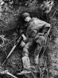 Dead Teenage German Soldier Killed During British Offensive