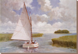 Catboat Through the Marsh