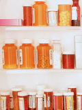 Medicine Cabinet Both Otc and Prescription Bottles