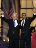 Barack Obama and Joe Biden at the Democratic National Convention 2008  Denver  CO