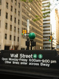 Outdoor Subway Sign for Wall Street on Street in New York City