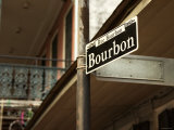 Historic Bourbon Street Sign in New Orleans  Louisiana
