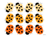 Orange Lady Bug Family