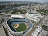 Old New York Yankees Stadium next to New Ballpark  New York  NY