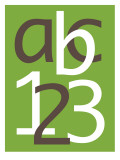 Green ABC and 123