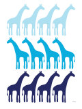 Blue Giraffe Family