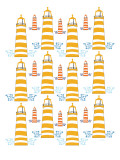Orange Light House Pattern