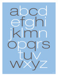 Lower Case Alphabet on Blue