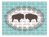 Seagreen Buffalo Belt Buckle