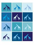 Blue Giraffe Squares