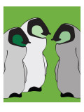 Baby Penguins in Green