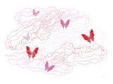 Pink Butterfly Trails