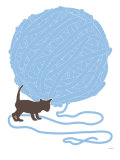 Blue Ball of Yarn