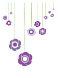 Purple Hanging Flowers