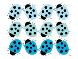 Blue Lady Bug Family